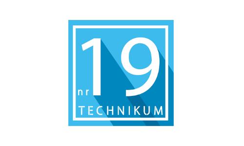 Logo Technikum nr 19 w Poznaniu - małe