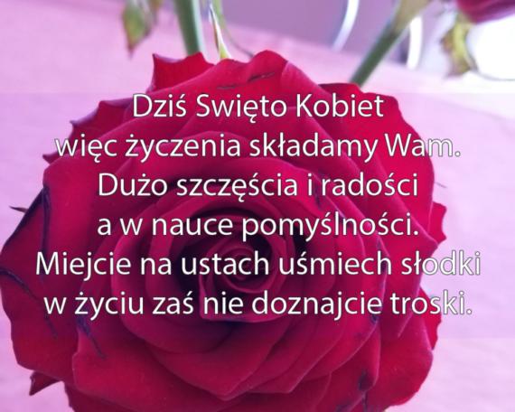 samorząd szkolny przekazuje życzenia z okazji dnia kobiet
